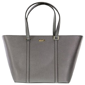 Kate Spade Large Silver / Metalic Saffiano Leather Dally Tote in ANTHRACITE