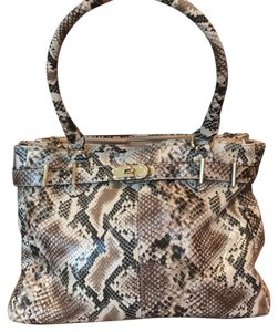 ALDO Satchel in Neutrals, snakeskin