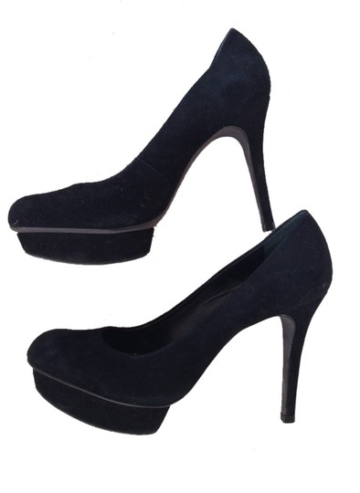 Tory Burch Suede Platform Black Pumps