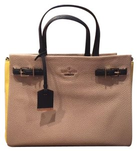 Kate Spade Satchel in Beige, Yellow and Navy
