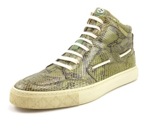 Gucci Men's Python Snakeskin High Top Sneakers