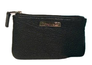 Tiffany & Co. Zipper Pouch Black Clutch
