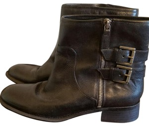 Nine West Black with chrome/silver accents. Boots