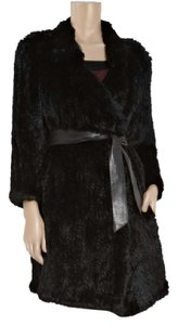 Burberry Fur Rabbit Knit Fur Coat