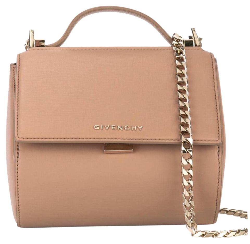 5bc5f7a547 Givenchy Pandora Box Mini Textured Chain Old Pink Leather Cross Body ...