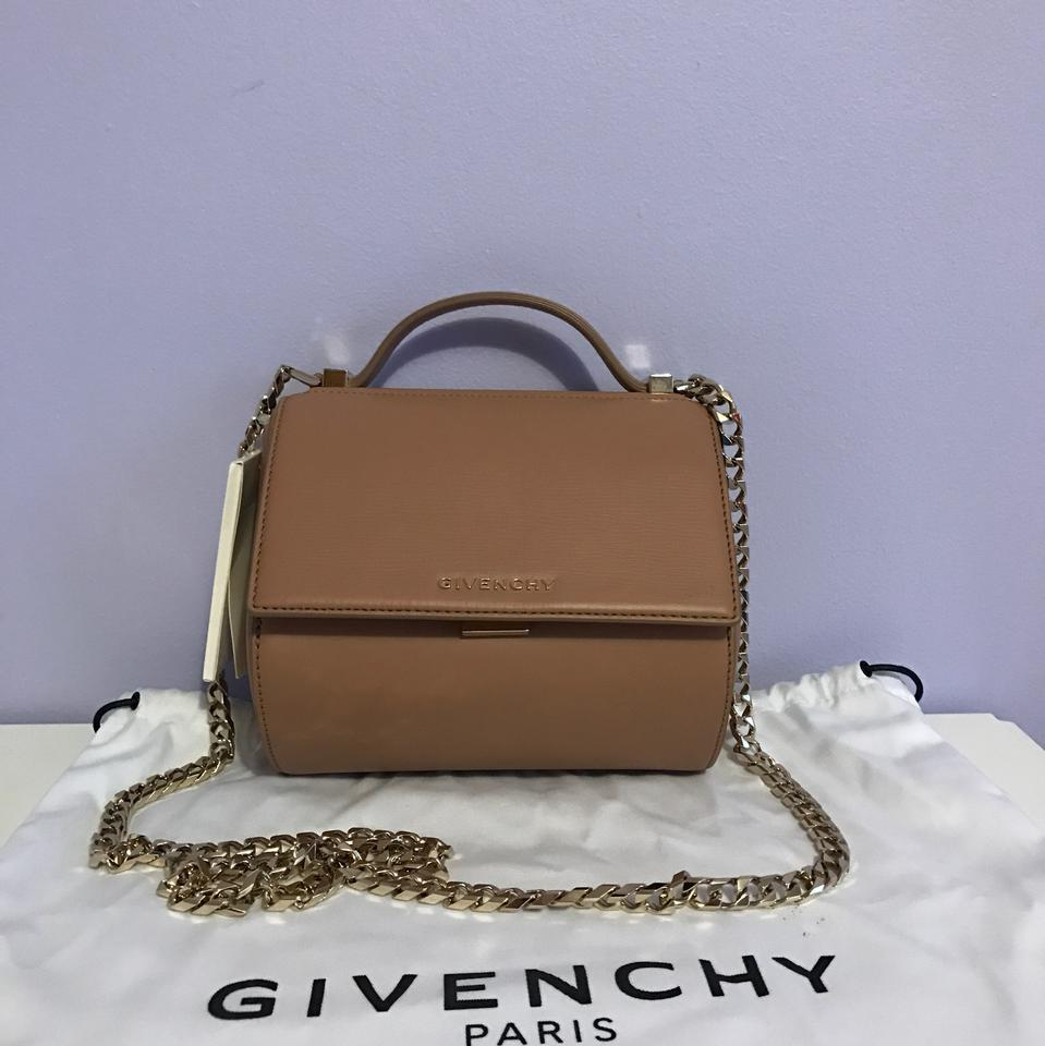 84f95389e27 Givenchy Pandora Box Mini Textured Chain Old Pink Leather Cross Body Bag -  Tradesy