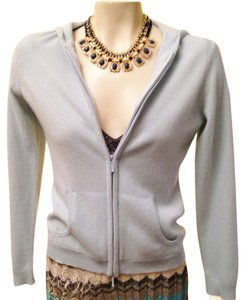 Lord & Taylor Cardigan Cashmere Zip Up Athleasure Sweatshirt