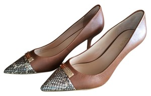 Coach Zan Leather Pointy Heel Brown Pumps
