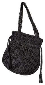 Anthropologie Strudy 3 Inner Pockets Magnectic Snap Tote in Black