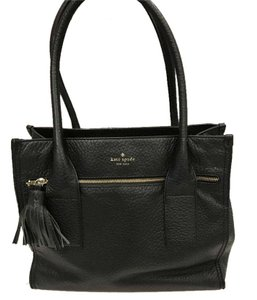 Kate Spade Leather Satchel in Black