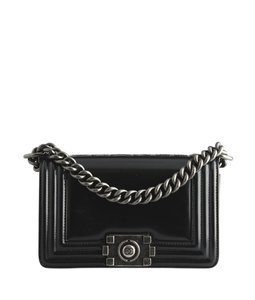 Chanel Cc Boy Patent Leather Shoulder Bag