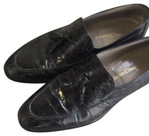 Johnston & Murphy Black Flats