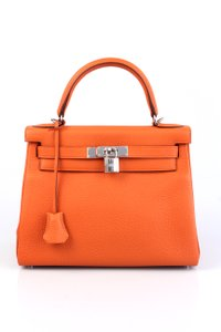 Hermès Kelly Satchel in Classic Orange