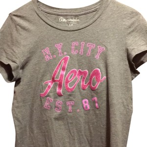 Aéropostale T Shirt grey and pink