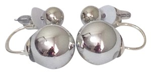 Other Fashion Jewelry Silver Double Pearl Stud Dangle Earrings