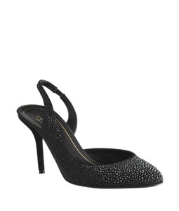 Gucci Suede Slingback Studded Black Pumps