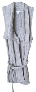 Banana Republic Cable Knit Vest Grey Tunic Sweater