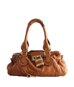 Chloé Chloe Paddington Leather Satchel in Brown