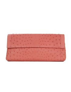 Nancy Gonzalez Ostrich Pink Clutch