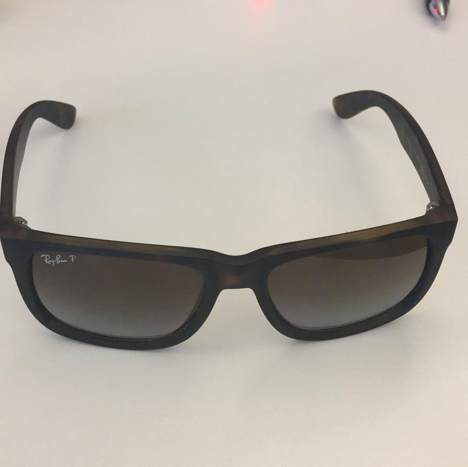 a4d49d4e9a Ray-Ban Tortoise Brown Gradient Justin Classic Polarized Sunglasses ...