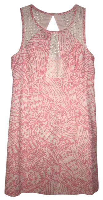 Lilly Pulitzer Light Pink And White Kaylee Style 97470 Mid