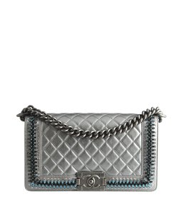 Chanel Quilted Embellished Lambskin Shoulder Bag