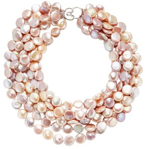 Other Multi-Strand Button Pearl Necklace