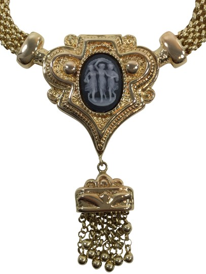 HIGH END LUXURY 14K Hollow Gold Necklace and Pendant