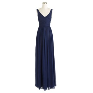 J.Crew Silk Chiffon Feminine Sleeveless Bridesmaid A Line Dress