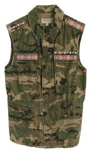 Urban Outfitters Studded Camoflauge Free People Vest