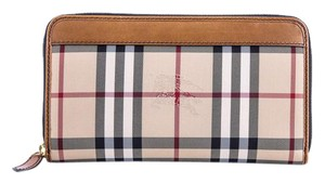 Burberry * Burberry Horseferry Check Zip Around Wallet