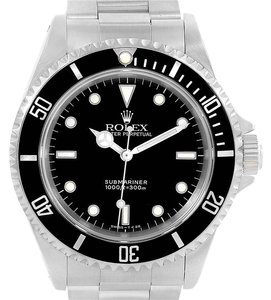 Rolex Rolex Submariner No Date Black Dial Steel Mens Watch 14060