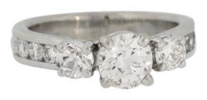 Other Vintage Three Stone Diamond Ring- 14k White Gold