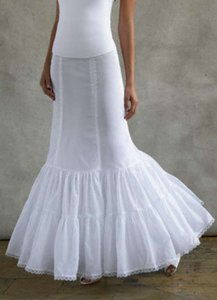David's Bridal White Fit and Flare Slip (Style 550)