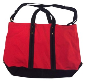 3.1 Phillip Lim Red & Black Travel Bag