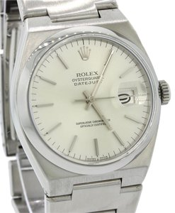 Rolex Rolex DateJust Steel Oyster Quartz 36mm Silver Date Dial Watch 17000