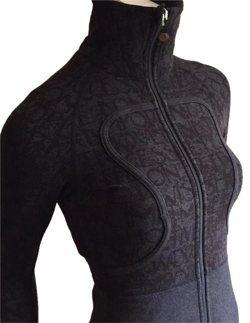 Item - Black and Gray Vintage (09) Cotton Jacket Activewear Size 4 (S)