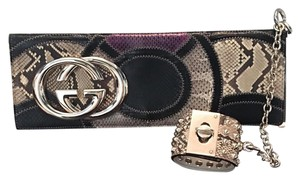 Gucci black & tan Clutch