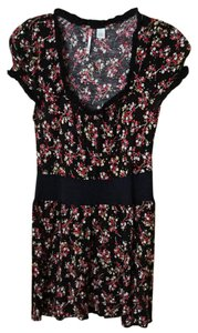 Anthropologie Floral Printed Crochet Tunic