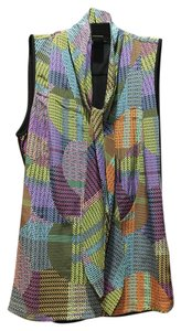 Etcetera Silk Sleeveless Rouching Top Multi
