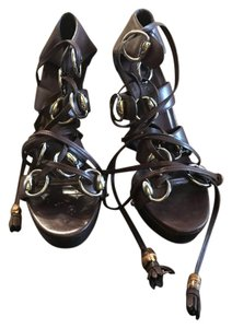 Gucci Heels Heels Leather Brown Sandals