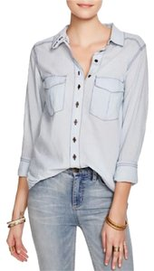 Free People Top WASHED BLUE