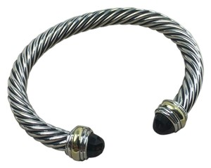 David Yurman 7mm silver & 18kCable classic smoky topaz gold