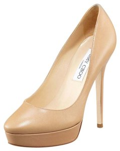 Jimmy Choo Cosmic Size 38 Closed Toe Beige Nude Pumps