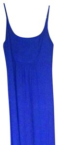 Navy blue. Slightly discolored. Maxi Dress by Calvin Klein