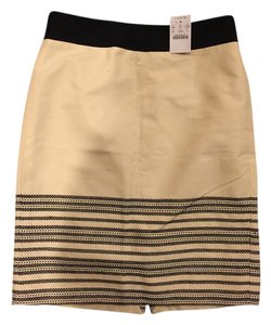 J.Crew Pencil Skirt Ecru & Black