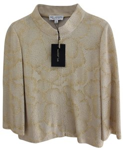 St. John Never Been Worn Top beige/ Gold Shimmer