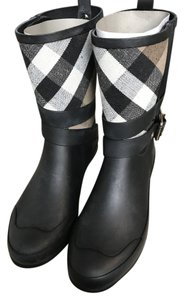 Burberry Black/ House Check Boots
