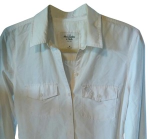 Abercrombie & Fitch Button Down Shirt Beige