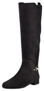 Tory Burch Jess Suede Size 8 Riding Suede Black Boots
